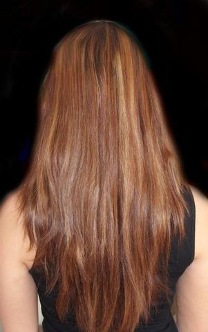 V haarschnitt lange haare