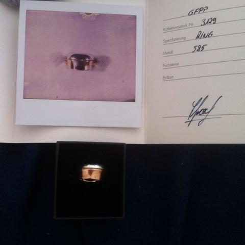 Ring mit Zertifikat  - (Schmuck, Ring, Wertschätzung)