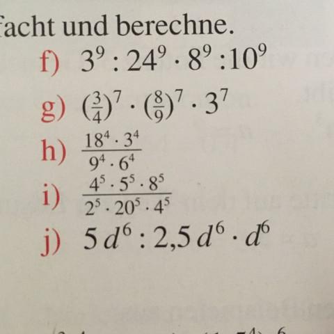 Aufgabe j) - (Schule, Mathe, Division)