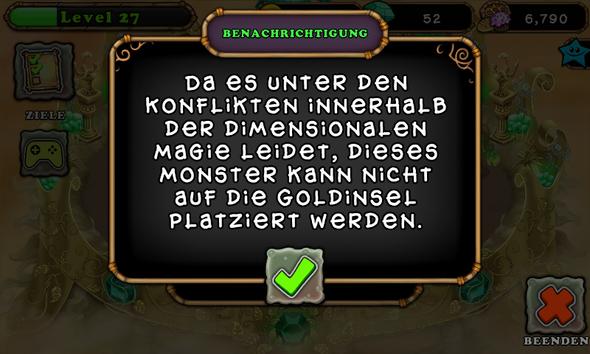 Fehler nörglernmy singing monsters - (Games, zocken, Handyspiele)
