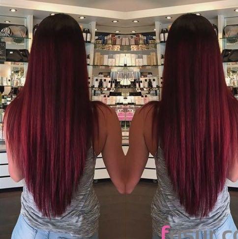 Lange haare dreiecksschnitt