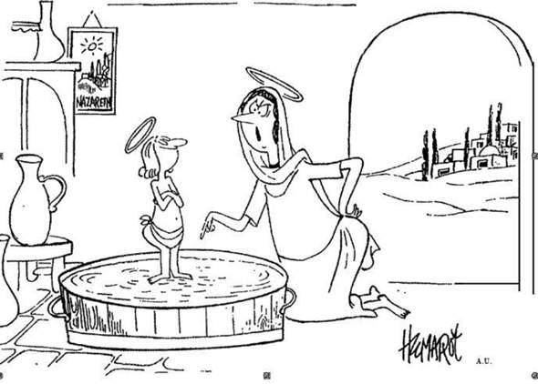 Was möchte der Autor mit dieser Karikatur aussagen?