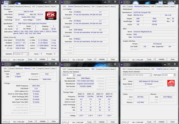 Mein Pc mit CPU-Z - (Computerspiele, Grafikkarte, cpu)