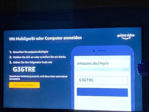 Code eingeben Amazon.de/mytv
