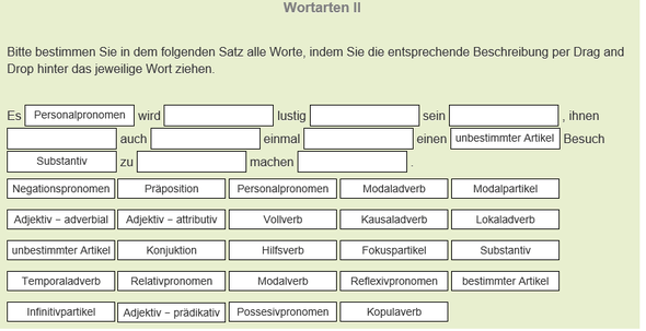 Wortarten  - (Schule, deutsch, Grammatik)