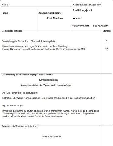 Berichtsheft Vorlage Ihk Bayern | marlpoint