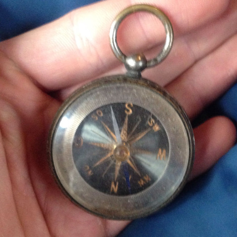 Kompass von vorne - (alt, Antiquitäten, Sammlung)
