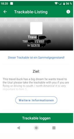 Was passiert wenn ich ein Trackable als sammelgegenstand angebe?
