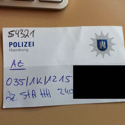 ..... - (Polizei, Anzeige, Kaufprozess)