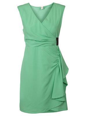 grünes kleid von vila clothes - (Schmuck, grünes Kleid)