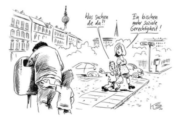 Was sagt die Karikatur  aus?