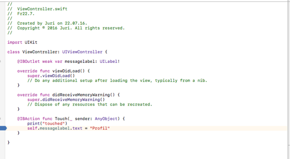 code - (Xcode, Swift, iOS App)