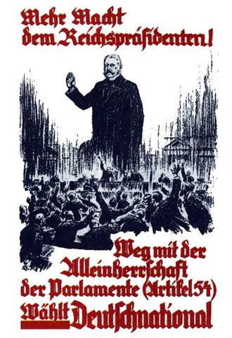 Plakat der DNVP zur Reichstagswahl - 6.11.1932 - (Geschichte, Wahlplakat)