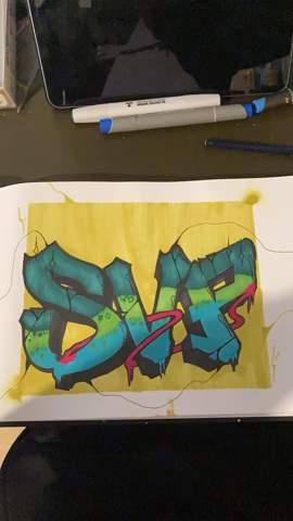 Was sagt ihr zu meinem Graffiti?
