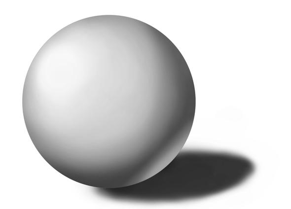 Was sieht bei dieser Kugel falsch aus? (Kunst, zeichnen, malen)
