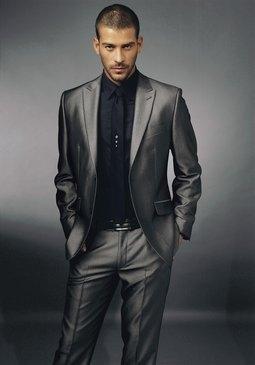 silbergrauer Anzug von Bruno Banani - (Mode, Fashion, Anzug)