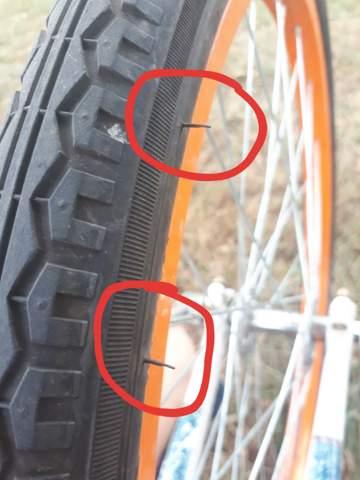 """Was sind das für kleine """"Stäbchen"""" am Fahrradreifen?"""