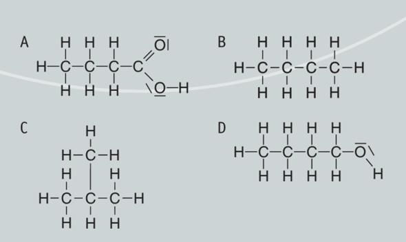 Was sind diese vier organischen Verbindungen nach IUPAC?