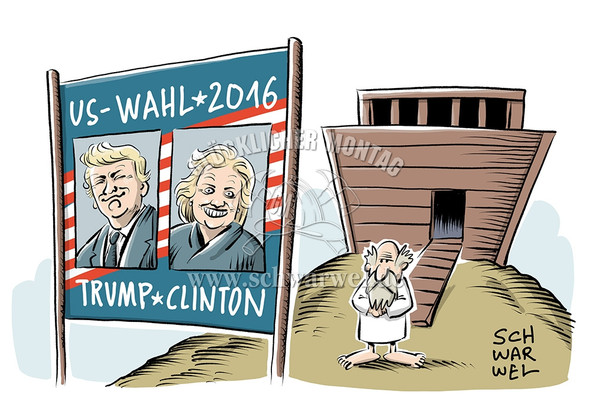 US Wahlkampf Trump vs Clinton - (USA, Amerika, Wahlen)