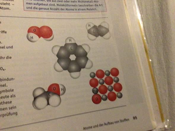 Was sind von der Abbildung die Verhältnis- und die Molekülformel?