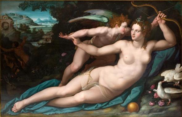 Venus und ihr Sohn Amor - (Freizeit, Venus, amor)
