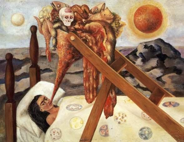 Was soll das Bild von Kahlo ausdrücken?