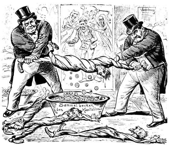Karikatur: «Das neue Verhältnis zwischen Arbeiter und Unternehmer» - (Schule, Geschichte, Interpretation)