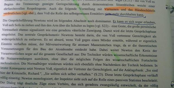 Was Soll Ich In Die Analyse Reinschreiben Deutsch