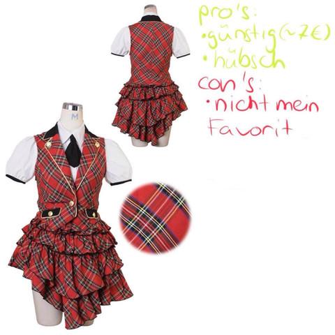 rote Schuluniform - (Kostüm, Cosplay)