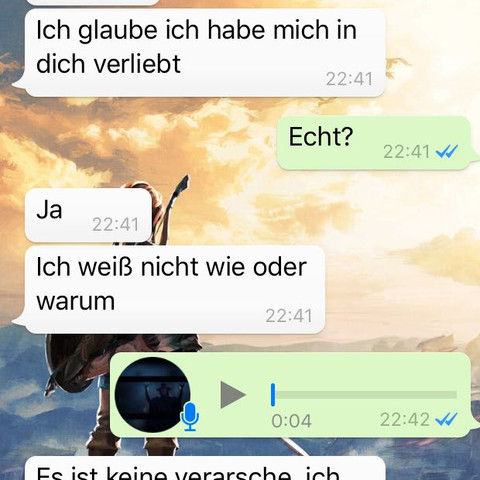 Whatsapp liebesgeständnis Liebesgeständnis über