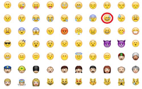Backen snapchat smiley rote Snapchat