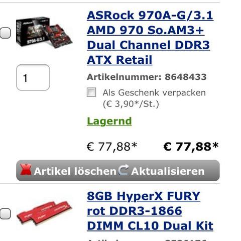 Mainboard und RAM  - (PC, Konfiguration)