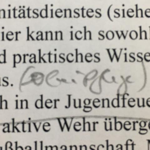 Bleistift  - (Schreiben, Handschrift, entziffern)