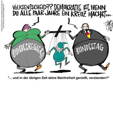 Bundesregierung  - (Karikatur, Bundesregierung)