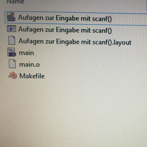 Makefile.win Datei wir mit Blender Logo angezeigt. - (Computer, PC, programmieren)