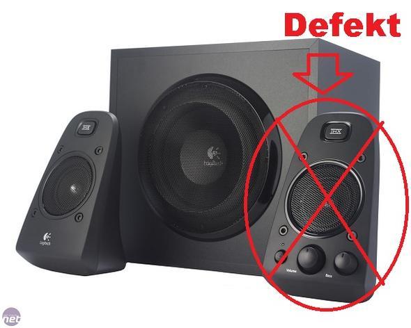 was tun wo ersatzteile finden logitech z623 2 1 speaker system lautsprecher boxen defekt. Black Bedroom Furniture Sets. Home Design Ideas