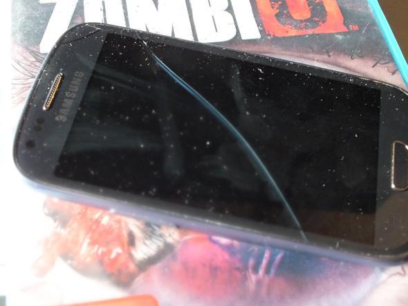 Rechts oben sowie einmal Diagonal (Displayriss) - (Samsung, Garantie, defekt)