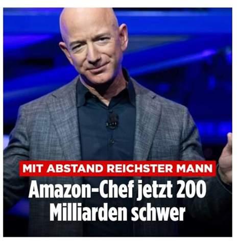 Was will der Amazon Chef mit 200 Milliarden Euro, wie soll man das bloss ausgeben?
