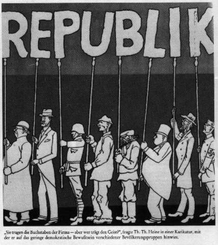 Karikatur zur Weimarer Republik - (Schule, Geschichte, Deutschland)