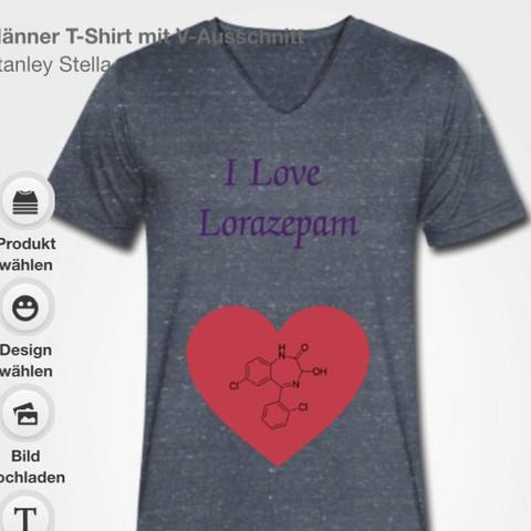 Aufdruck I Love Lorazepam  - (T-Shirt, Aufdruck)