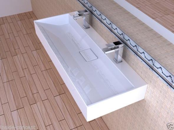 Doppelwaschbecken - (Bad, Badezimmer, Waschbecken)