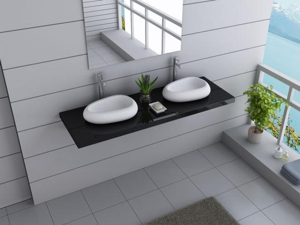 Zwei einzelne - (Bad, Badezimmer, Waschbecken)