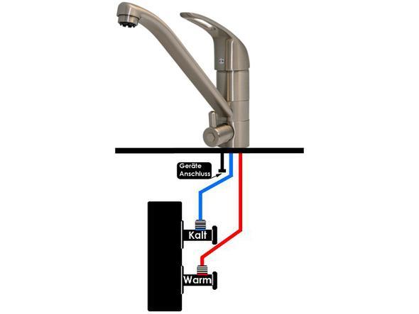 waschmaschine an wasserhahn? (reparatur, küche, handwerk) - Wasserhahn Küche Mit Geräteanschluss