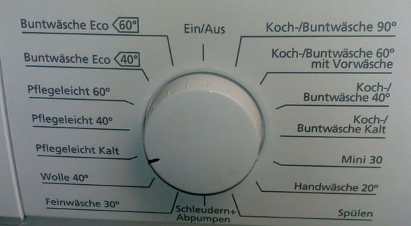 Waschmaschine Waschprogramme - (Waschmaschine, Waschmittel)
