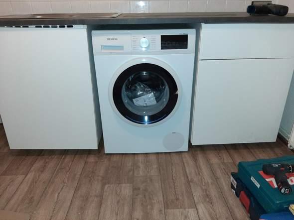 Waschmaschine Nicht Unterbaufahig Trotzdem Unter Arbeitsplatte Kuche