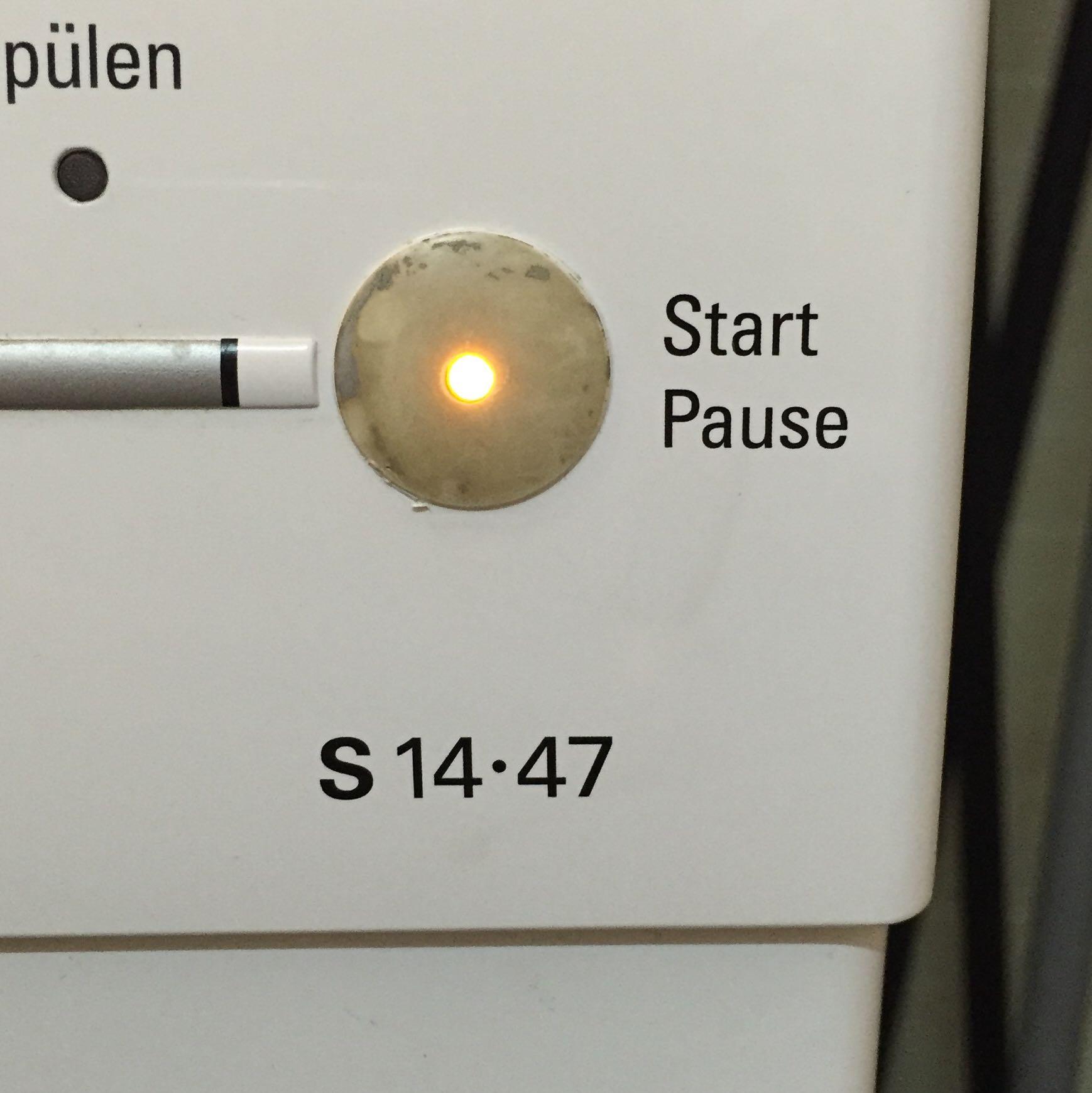 waschmaschine siemens s 14 47 bezeichnung start pause knopf touch ersatzteile schalter. Black Bedroom Furniture Sets. Home Design Ideas