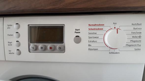 Waschtrockner bosch maxx wvd trockner programm bleibt
