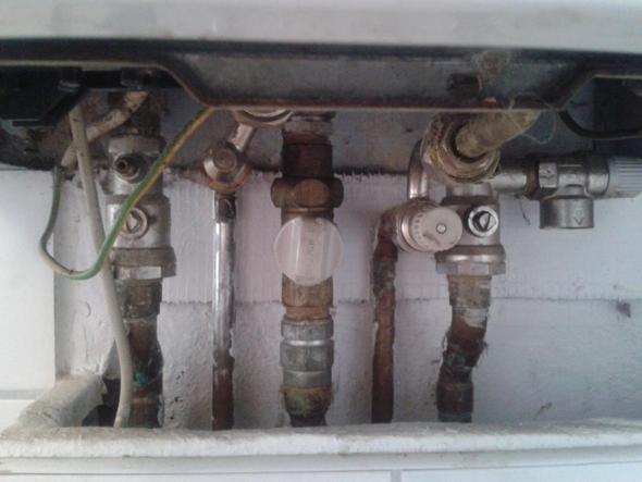 genug Wasser auffüllen Vaillant Thermoblock atmoTec VCW (Reparatur YW92
