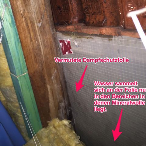 Wasser Sammelt Sich Unterhalb Des Dachs Facharbeit Heimwerker Dach