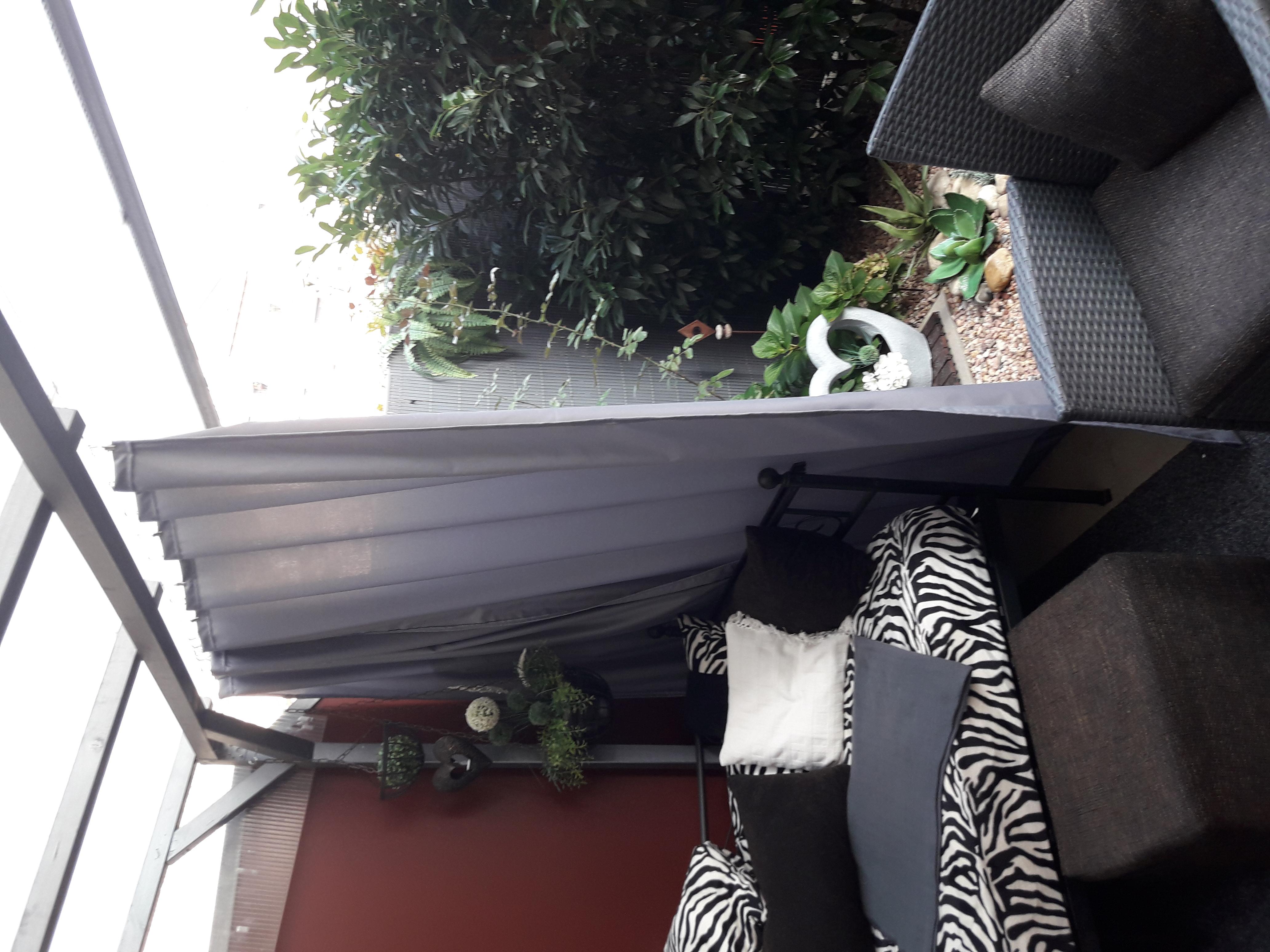 Wasserdichter Vorhang Auf Terrasse Beschweren Gegen Wind